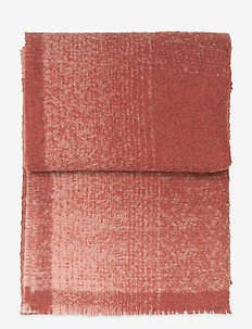 Vulcanic throw - blankets - rusty red/nude