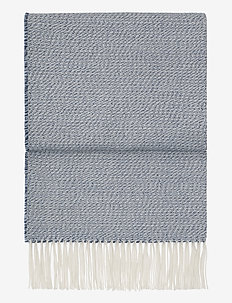 Breeze plaid - plaider & sengetæpper - delph/atlantic/white