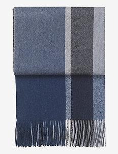 Manhattan plaid - tæpper - dark blue/asphalt