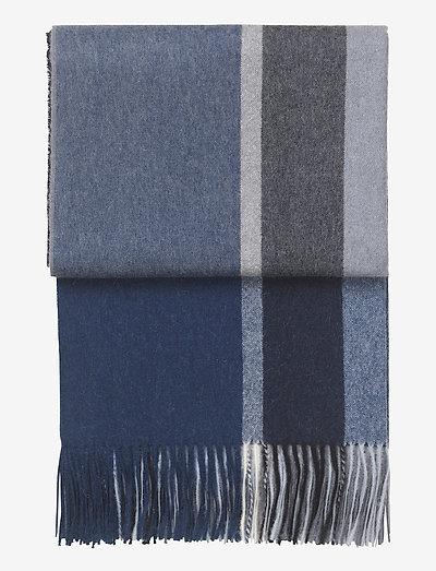 Manhattan plaid - plaider & sengetæpper - dark blue/asphalt