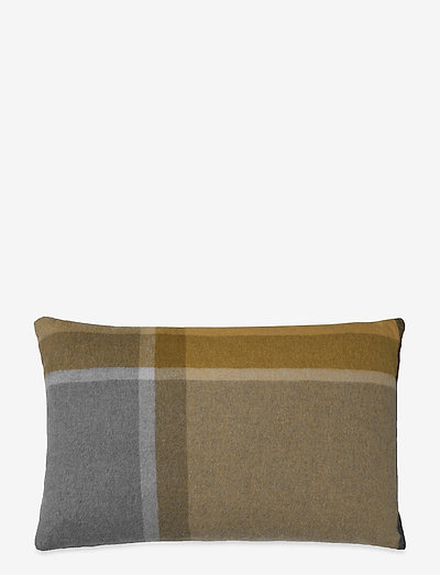 Manhattan cushion - puder - yellow/smok glas