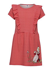 IDA COUNTS RUFFLE DRESS - RED