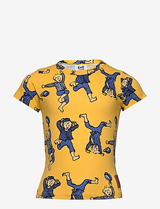 STUNT SHIRT - cartoon - yellow