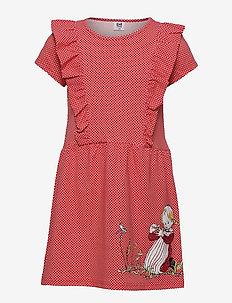 IDA COUNTS RUFFLE DRESS - sukienki - red