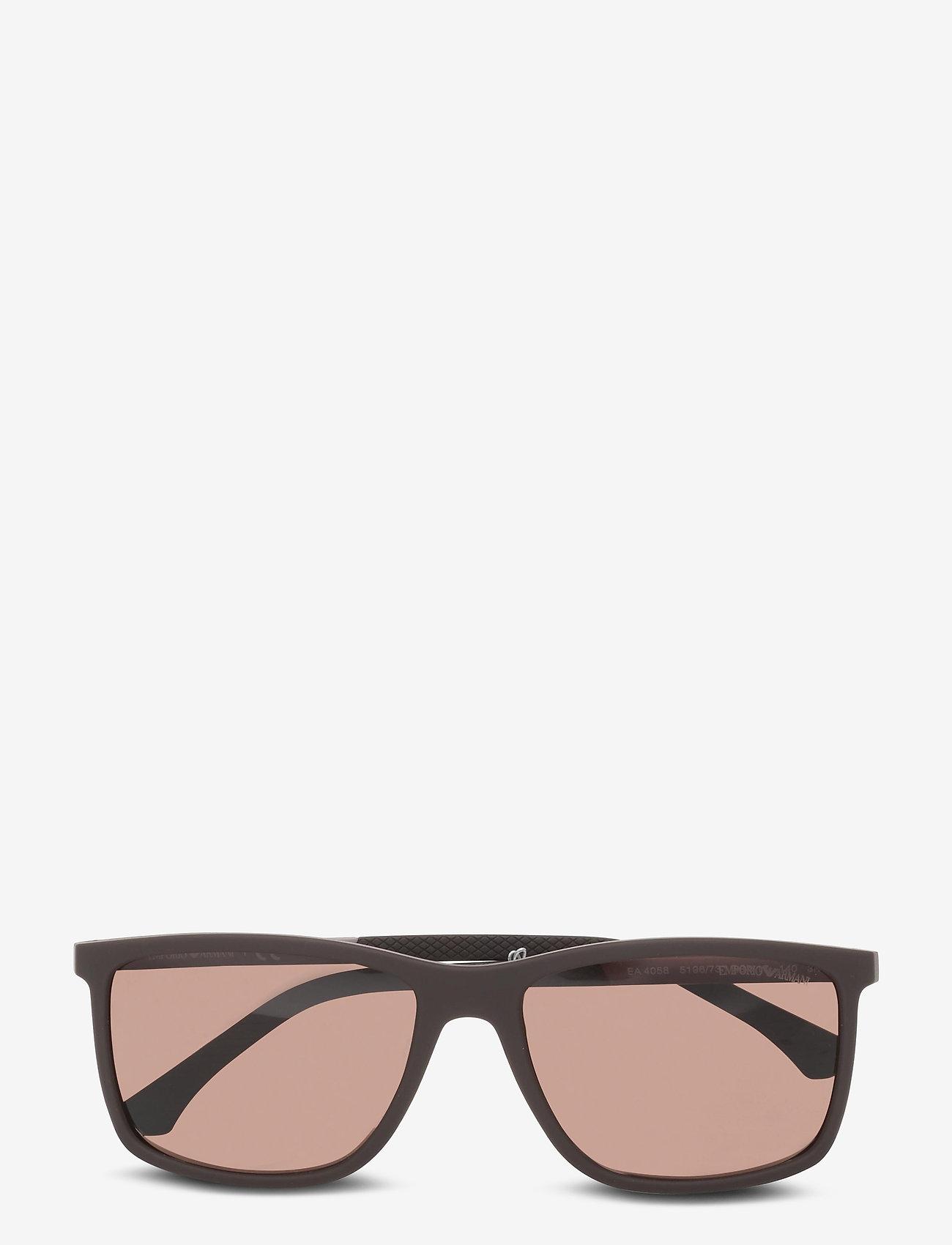 Emporio Armani Sunglasses - 0EA4058 - d-shaped - brown - 0