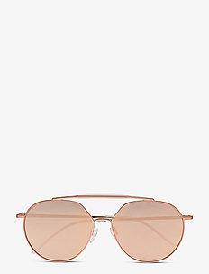 0EA2070 - okulary przeciwsłoneczne w kształcie litery d - copper