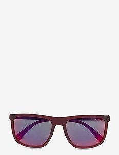 0EA4124 - okulary przeciwsłoneczne w kształcie litery d - matte opal red