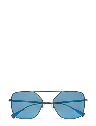 D-Frame Wayfarer Sonnenbrille Grau EMPORIO ARMANI SUNGLASSES
