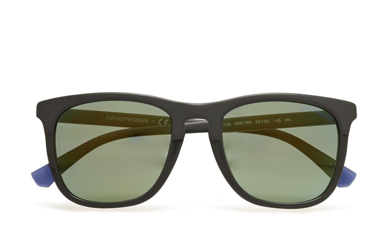 Emporio Armani Sunglasses D-frame - MATTE GREEN ON GREEN
