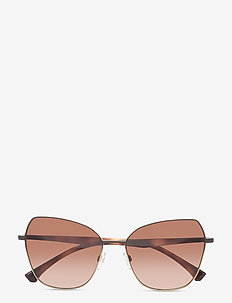 Sunglasses - firkantet stel - gradient brown