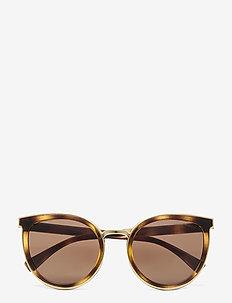 Emporio Armani Sunglasses - round frame - havana