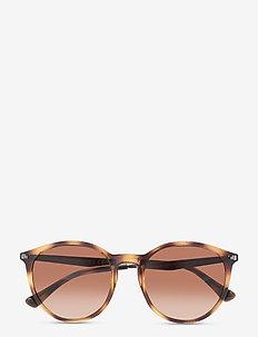 Sunglasses - round frame - gradient brown