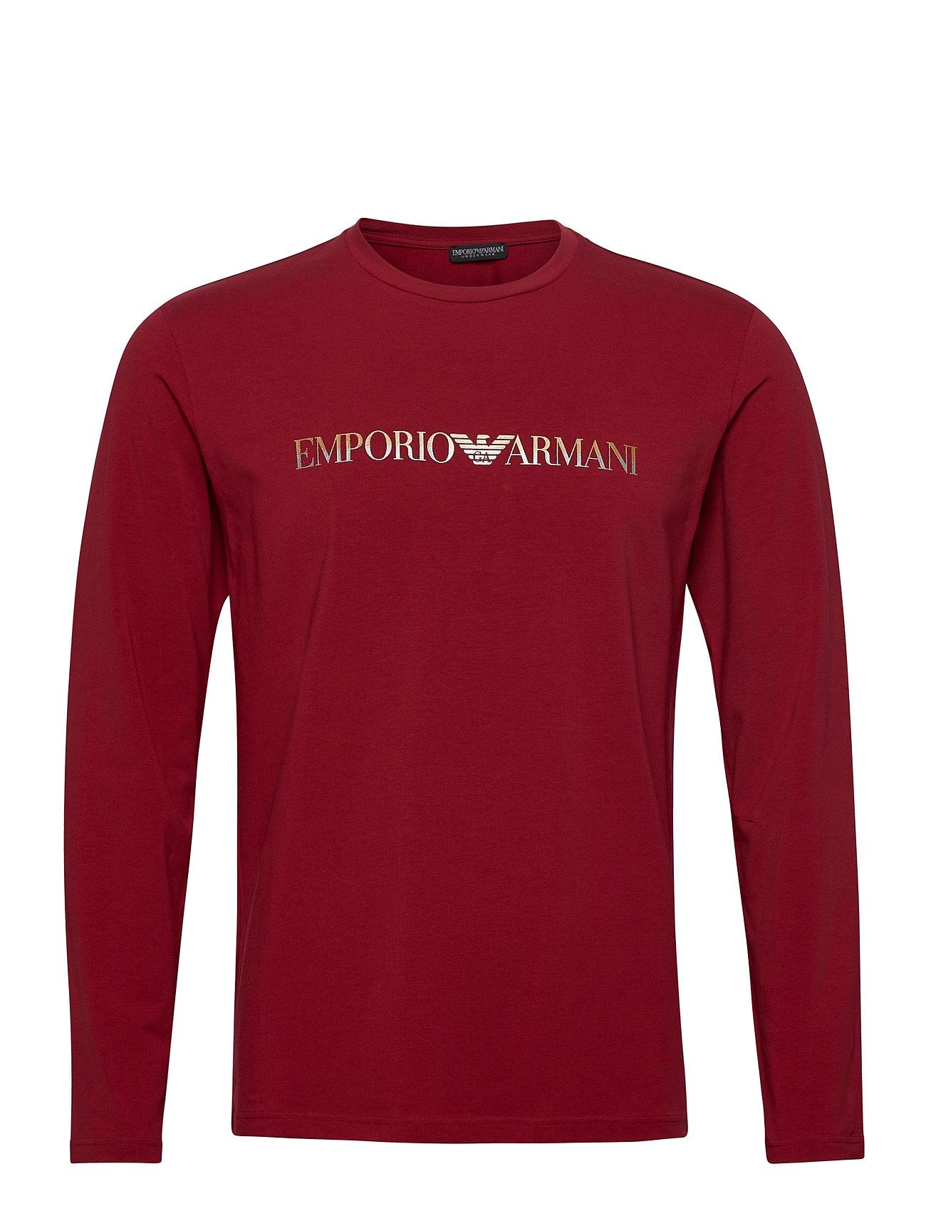Image of T-Shirt T-Langærmet Skjorte Rød Emporio Armani (3490305101)