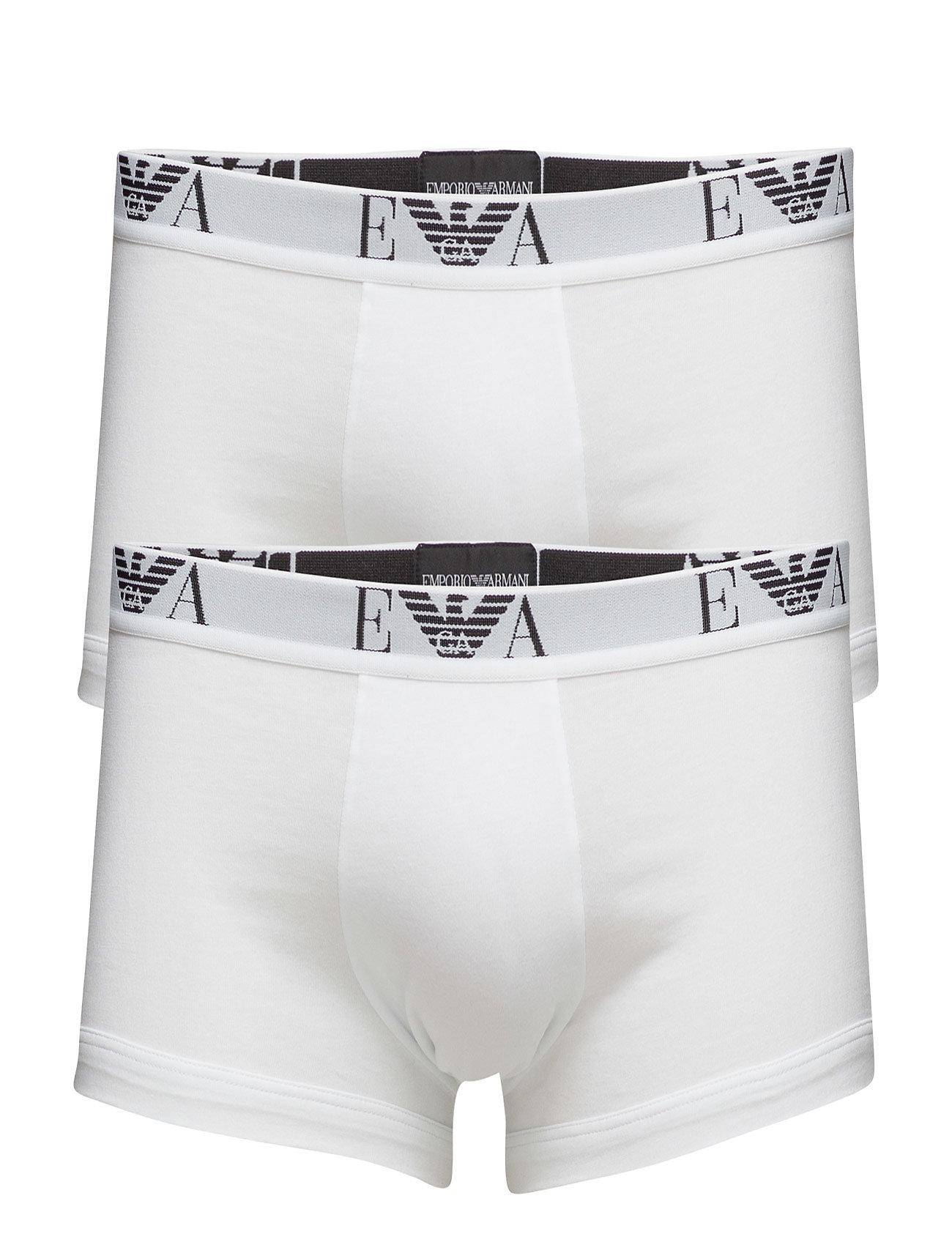 Image of Mens Knit 2pack Boxe Boxershorts Hvid Emporio Armani (2603354949)
