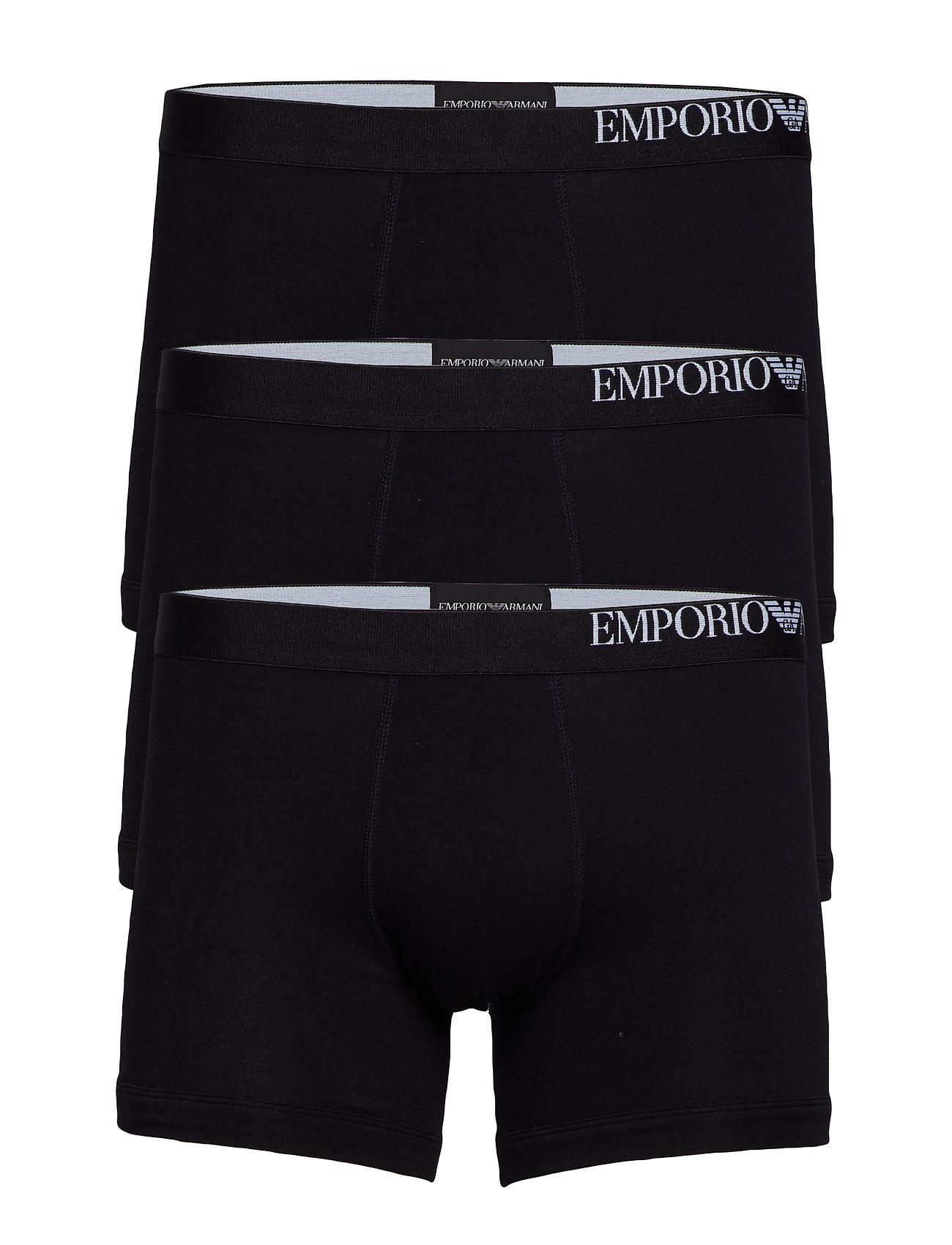 Emporio Armani MEN'S KNIT 3-PACK BOXER - NERO/NERO/NERO