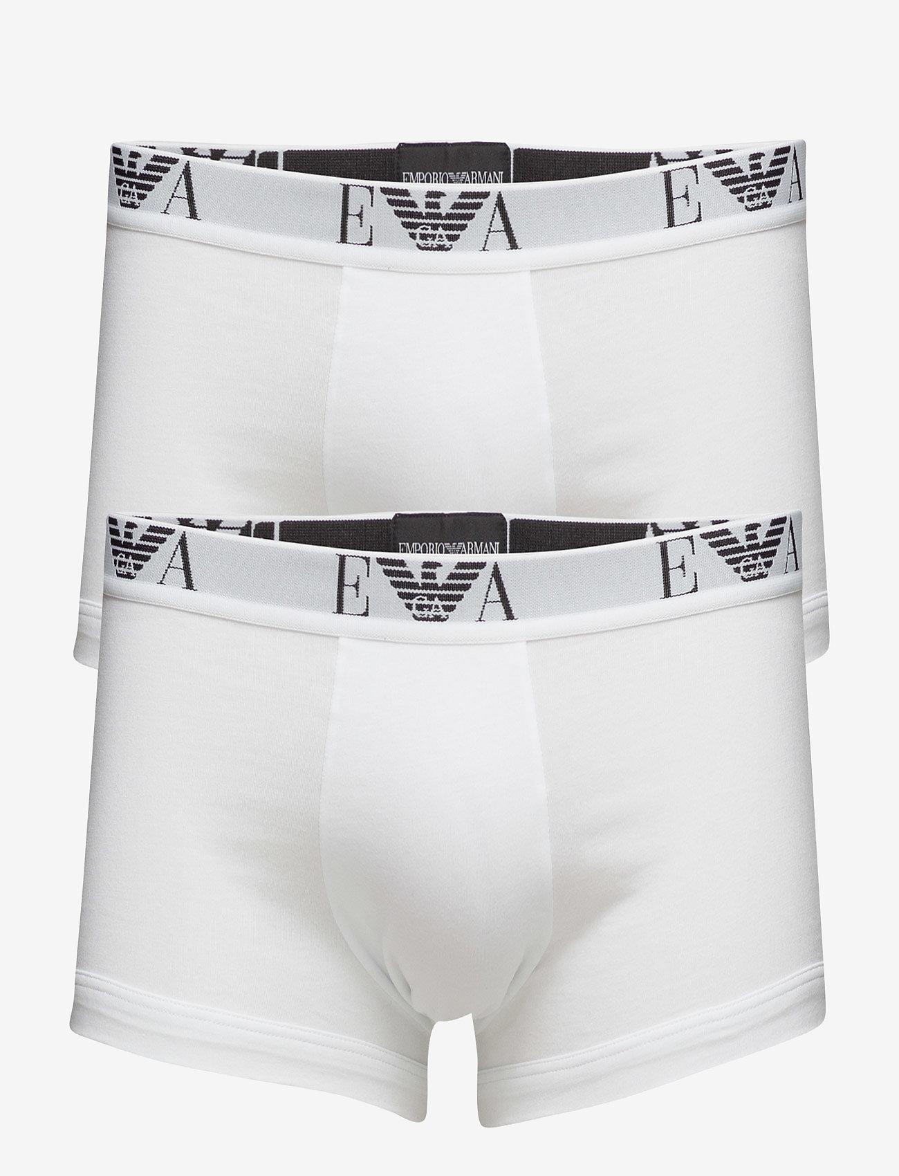 Emporio Armani - MENS KNIT 2PACK BOXE - bokserit - bianco/bianco - 0