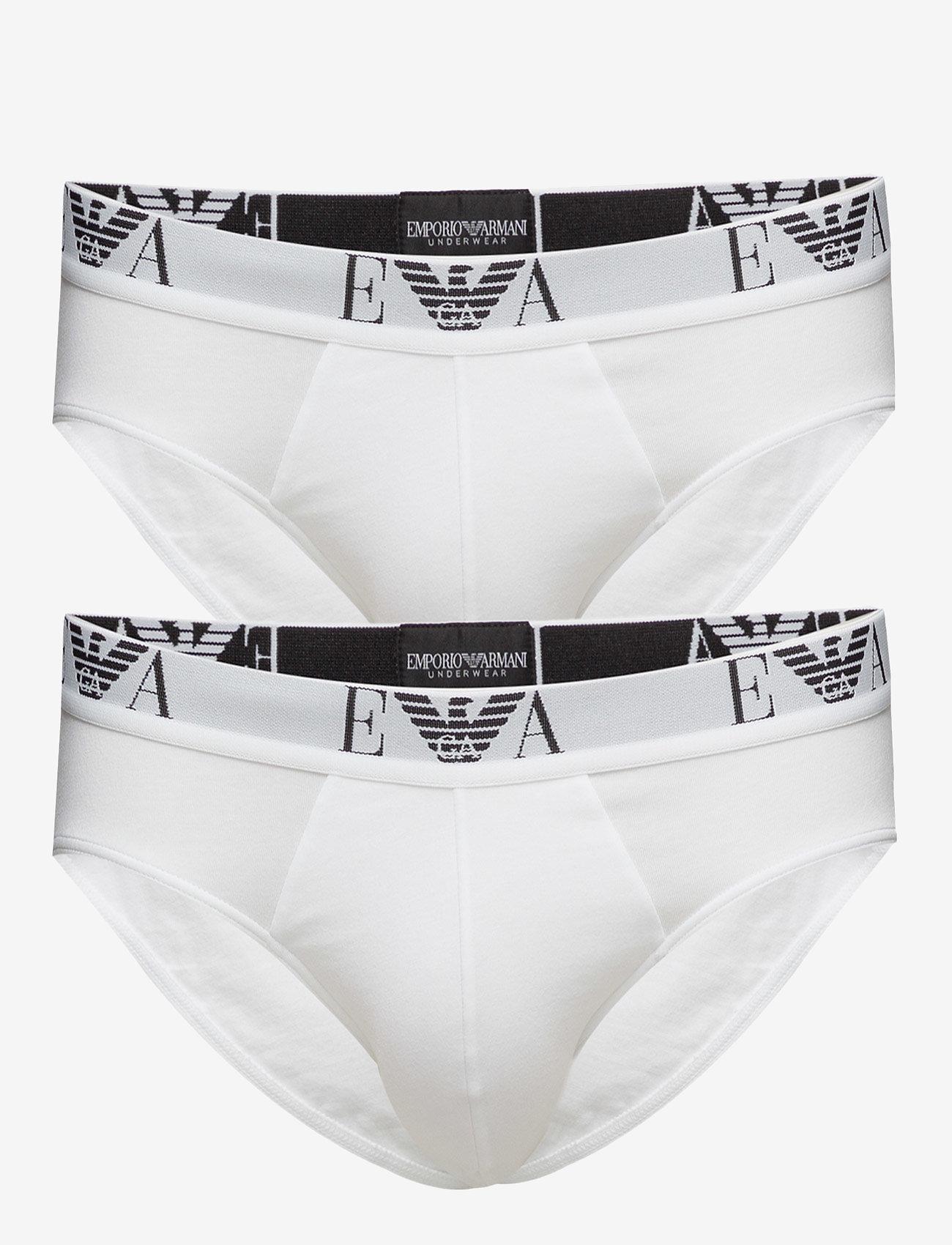 Emporio Armani - MENS KNIT 2PACK BRIE - alushousut - bianco/bianco - 0