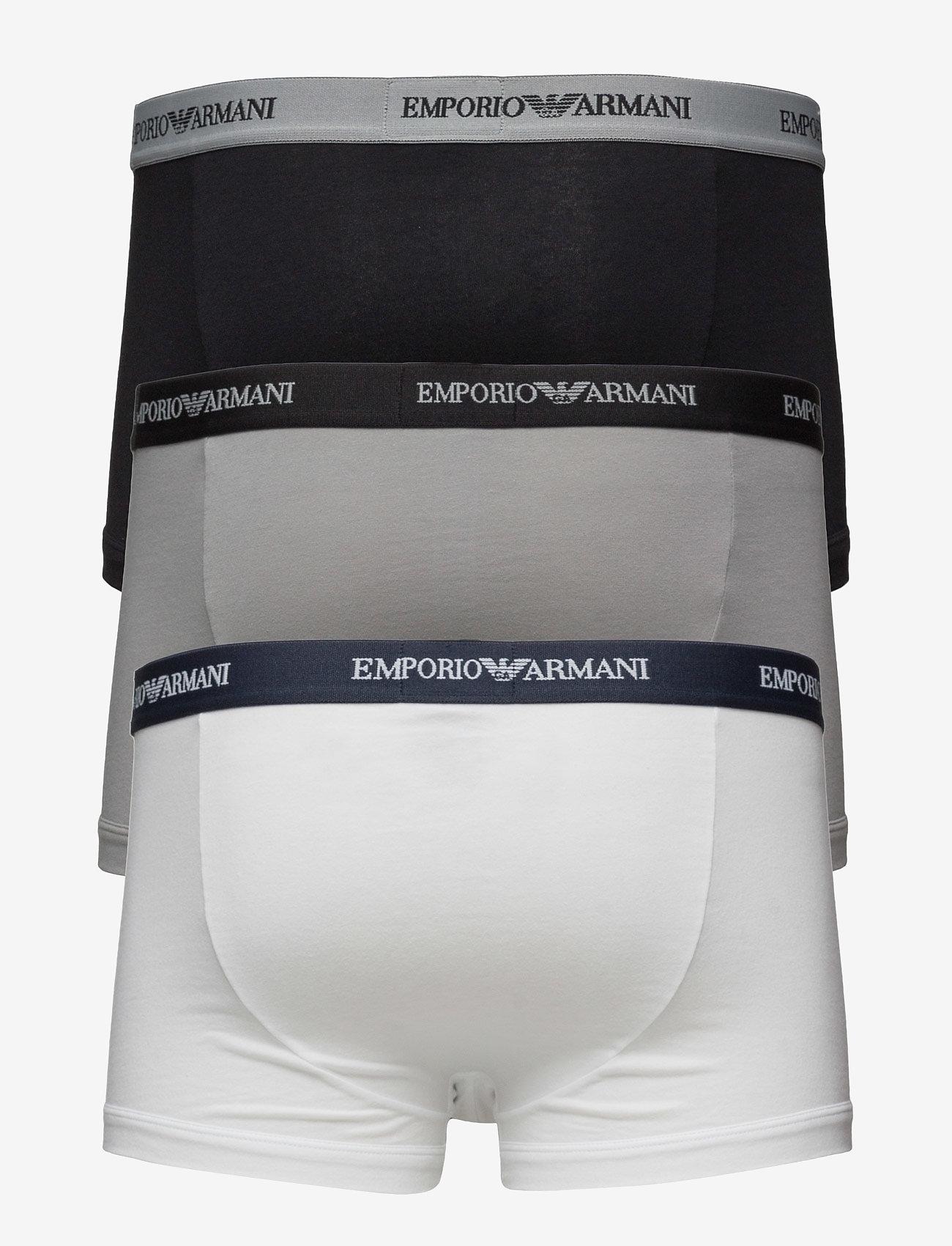 Emporio Armani - MENS KNIT 3PACK BOXE - bokserit - bianco/nero/grigio - 1