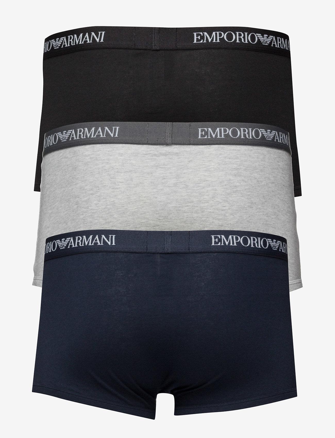 Emporio Armani - MENS KNIT 3PACK TRUN - bokserit - marine/grg mel/nero - 1