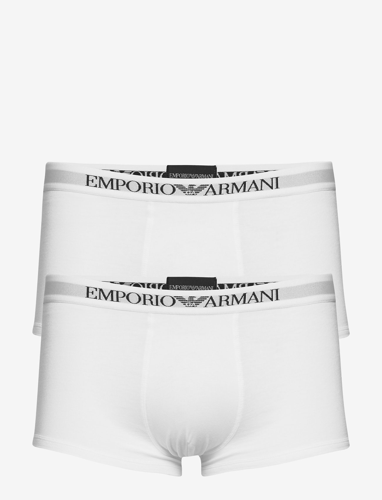 Emporio Armani - MENS KNIT 2PACK TRUN - bokserit - bianco/bianco - 0