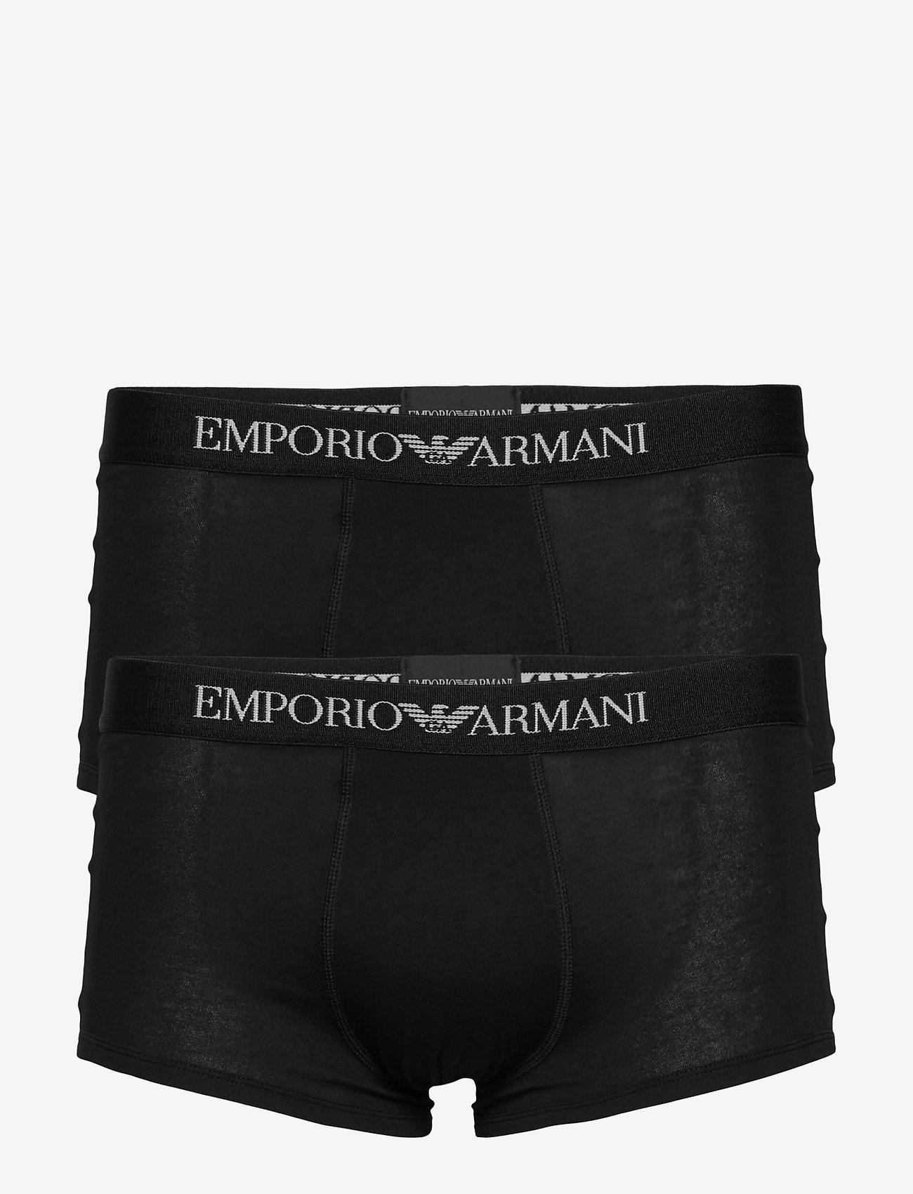 Emporio Armani - MENS KNIT 2PACK TRUN - bokserit - nero/nero - 0