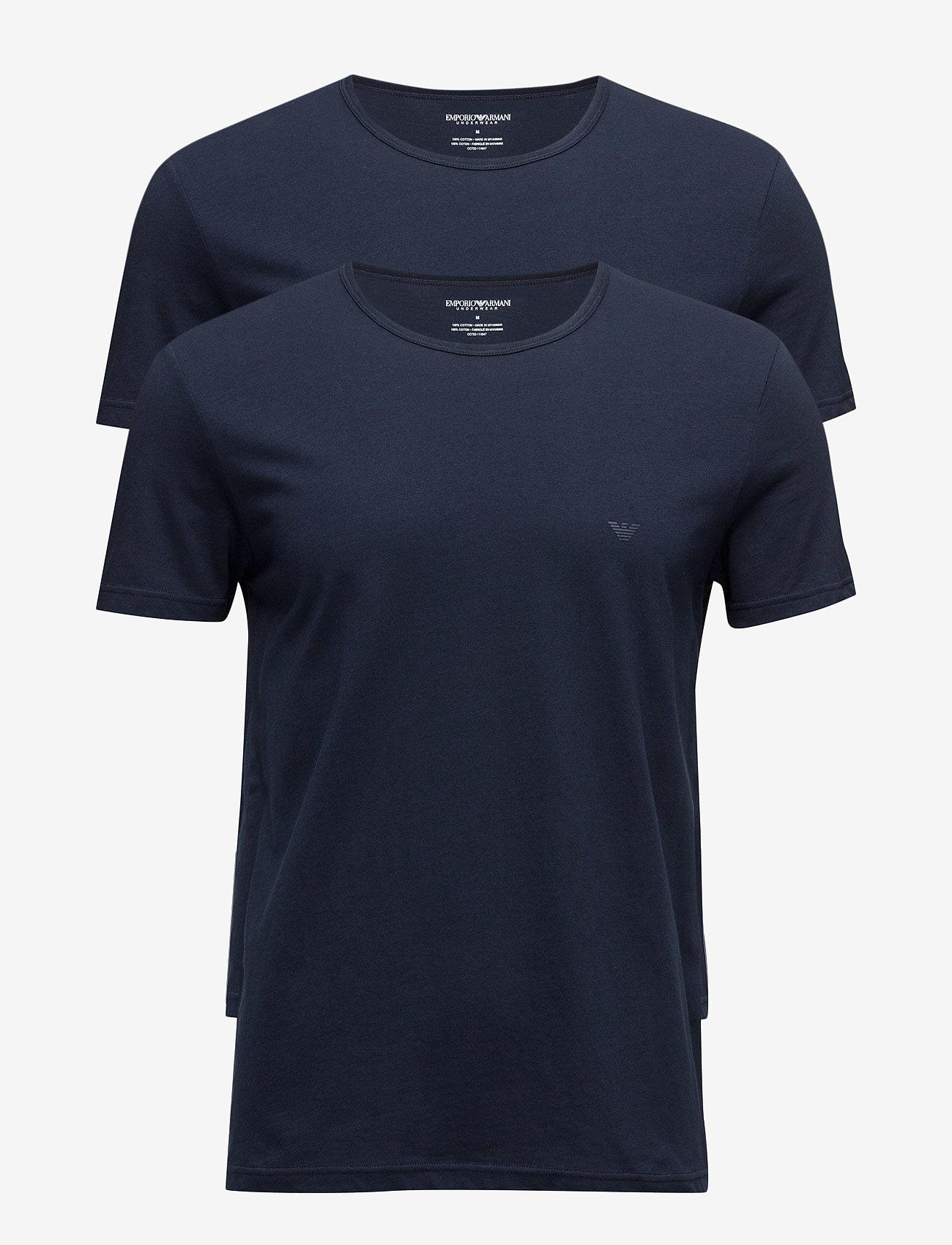 Emporio Armani - MENS KNIT 2PACK TSH - t-shirts basiques - marine/marine - 0