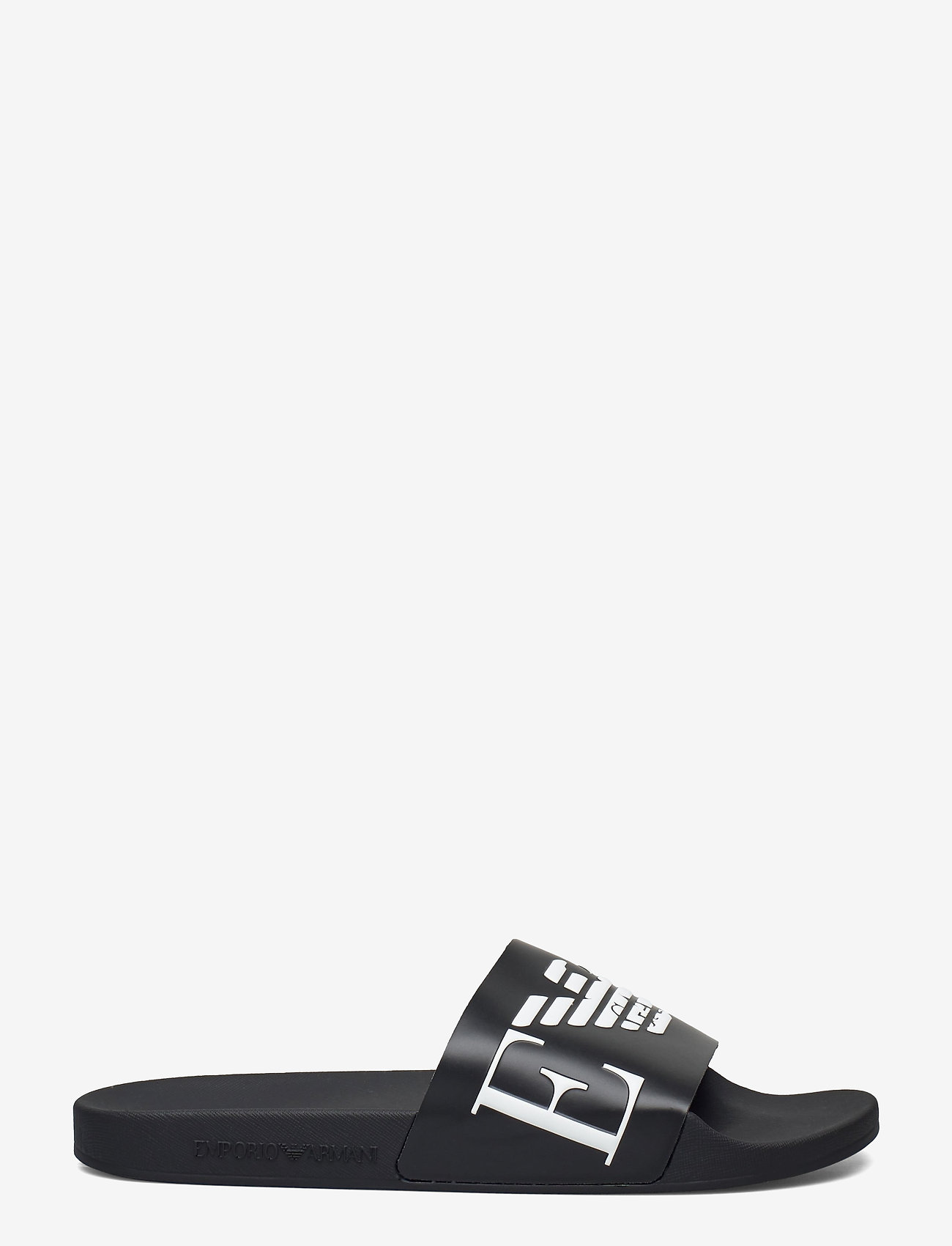 Emporio Armani - SLIPPER - pool sliders - black+white+black - 1