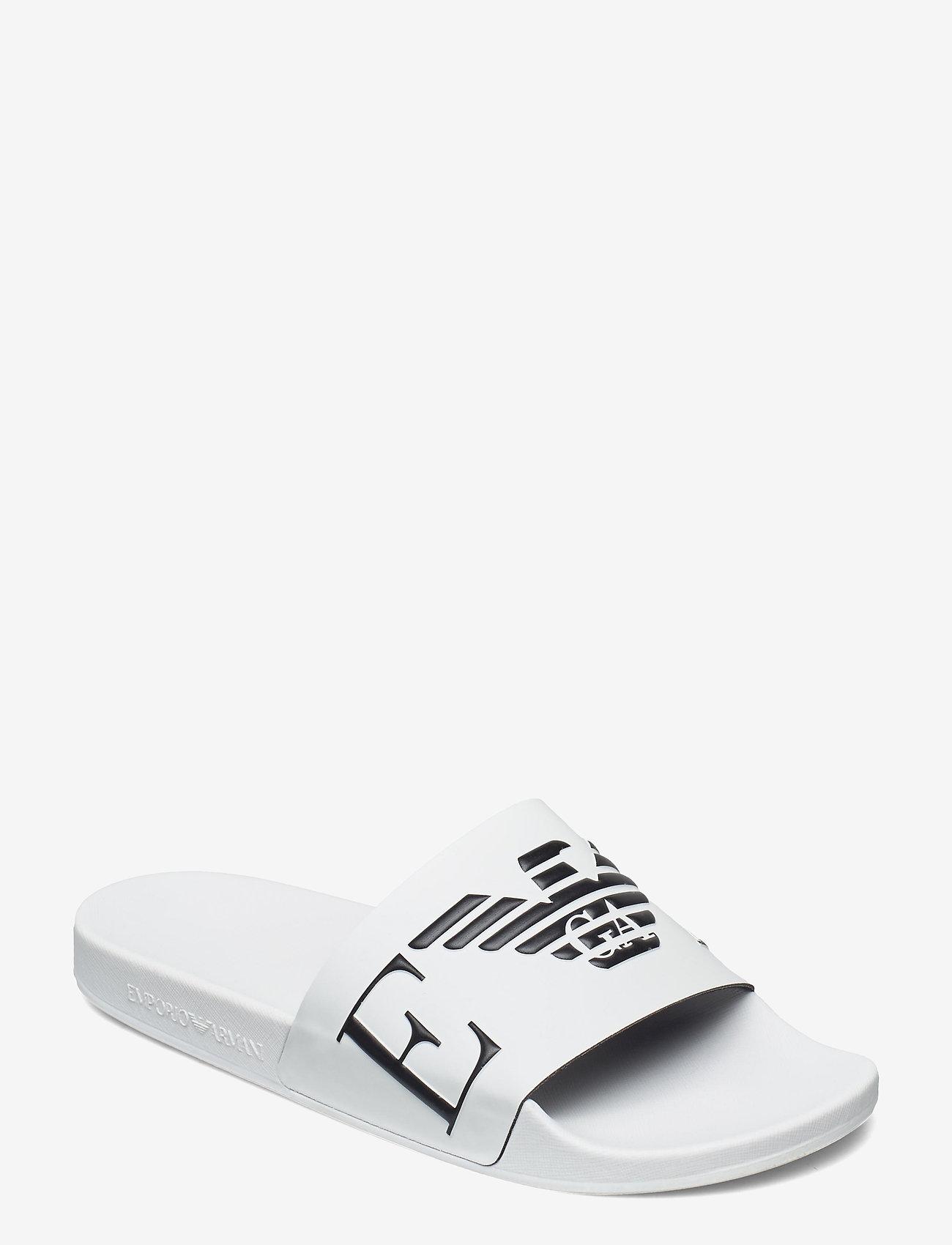 Emporio Armani - SLIPPER - pool sliders - white+black+white - 0