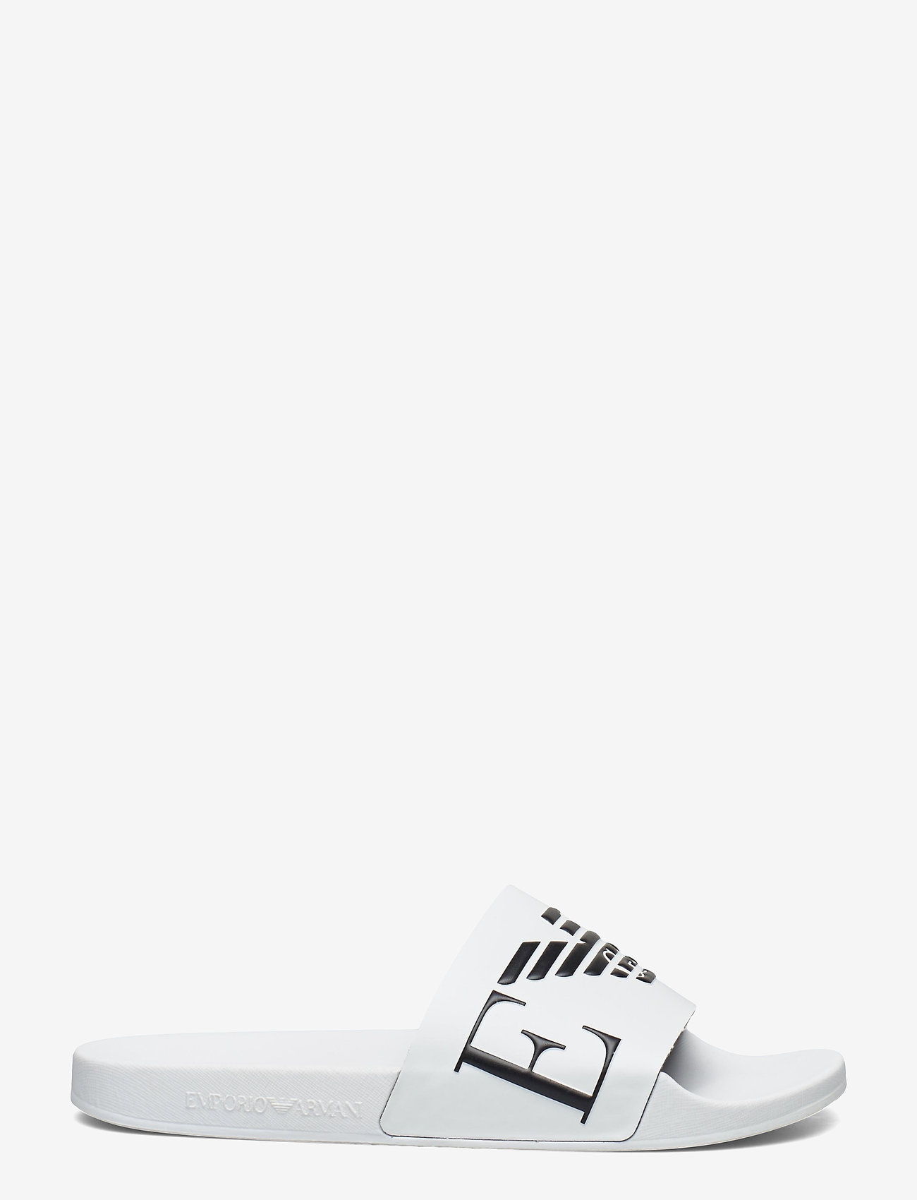 Emporio Armani - SLIPPER - pool sliders - white+black+white - 1