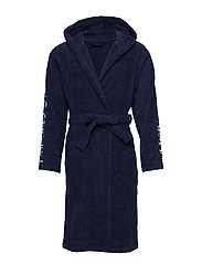 MENS WOVEN BATHROBE - BLU NAVY