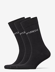 Emporio Armani - SOCKS - tavalliset sukat - nero/nero/nero - 0