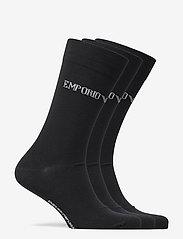 Emporio Armani - SOCKS - tavalliset sukat - nero/nero/nero - 1