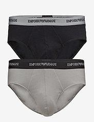 Emporio Armani - MENS KNIT 2PACK BRIE - alushousut - nero/grigio - 0
