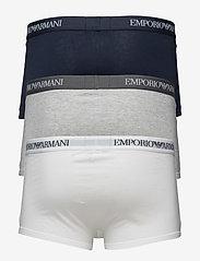 Emporio Armani - MENS KNIT 3PACK TRUN - bokserit - bco/grigiomel/marine - 1