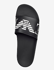 Emporio Armani - SLIPPER - pool sliders - black+white+black - 3