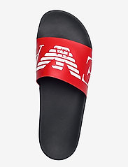 Emporio Armani - SLIPPER - pool sliders - red+white+marine - 3