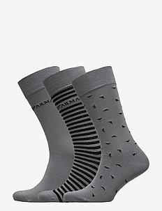 MEN'S KNIT SHORT SOC - vanlige sokker - grigio