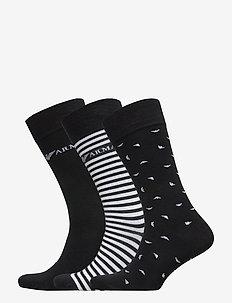 MEN'S KNIT SHORT SOC - vanlige sokker - nero