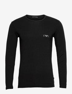MEN'S KNIT T-SHIRT - t-shirts basiques - nero