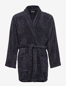 MEN'S WOVEN BATHROBE - MARINE