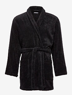 MEN'S WOVEN BATHROBE - NERO
