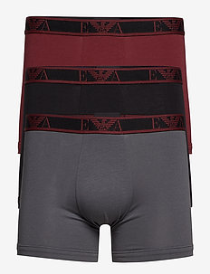MEN'S KNIT 3-PACK BOXER - NERO/ANTR./AMARANT