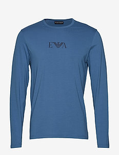 MENS KNIT T-SHIRT - INDIGO