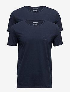 MENS KNIT 2PACK TSH - basic t-shirts - marine/marine