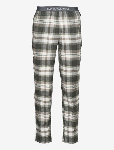 MEN'S WOVEN TROUSERS - bas de pyjama - scozzese alloro