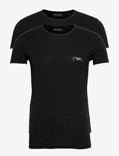 MEN'S KNIT 2PACK T-Shirt - t-shirts basiques - nero/nero