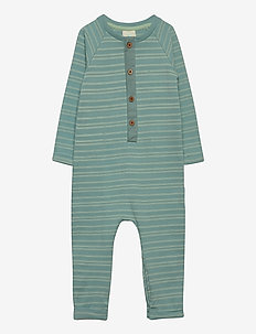 En Fant Playsuit - GOTS - BLUE SURF