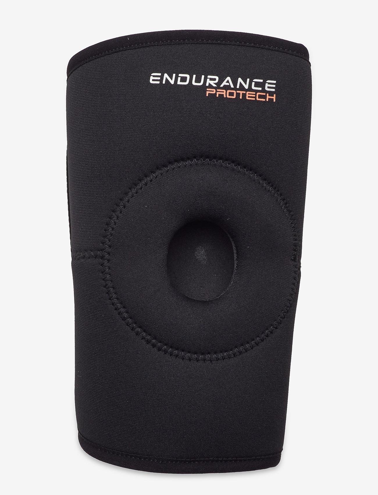 Endurance - PROTECH Neoprene Open Knee Support - polvituet - black - 0
