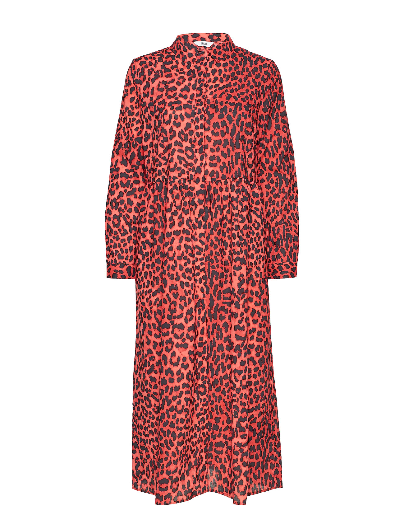 Envii ENHARRY LS MAXI DRESS AOP 6629 - SCARLET LEO