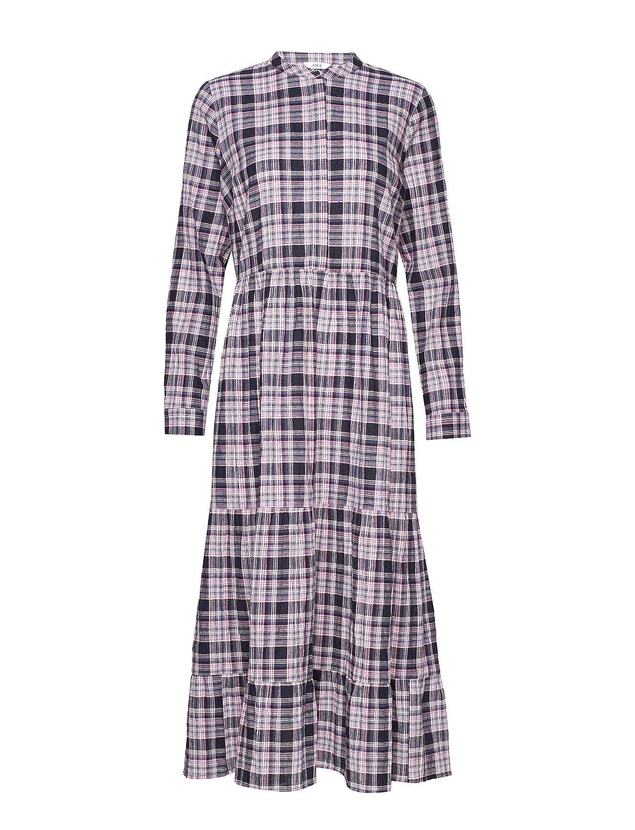 Envii ENMAGIC LS MAXI DRESS 6713 - DONNA CHECK